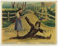 7m006 WIZARD OF OZ color English FOH LC R55 Dorothy helps fallen Scarecrow get back up!