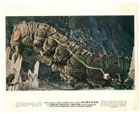 7m042 FIRST MEN IN THE MOON color 8x10 still #6 '64 Ray Harryhausen, incredible monster image!