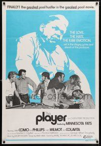 7p024 PLAYER Aust 1sh '71 pool hustling movie starring the real Minnesota Fats!