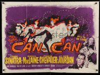 7p068 CAN-CAN British quad '60 Frank Sinatra, Shirley MacLaine, Maurice Chevalier & Louis Jourdan!