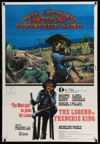 7p028 LEGEND OF FRENCHIE KING Canadian 1sh '71 sexiest Claudia Cardinale punching Brigitte Bardot!