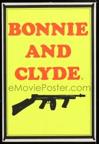 7p072 BONNIE & CLYDE English double crown '67 Warren Beatty & Dunaway, different Tommy gun art!