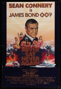 7p002 NEVER SAY NEVER AGAIN Lebanese '83 artwork of Sean Connery as James Bond 007!
