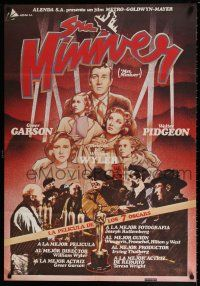 7p078 MRS. MINIVER Spanish R81 directed by William Wyler, voted the greatest movie ever made!