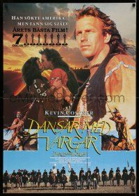 7p047 DANCES WITH WOLVES Swedish '90 Kevin Costner & Native American Indians, different images!
