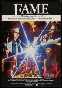 7p048 FAME Swedish '80 Alan Parker & Irene Cara at New York High School of Performing Arts!
