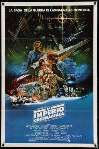 7r195 EMPIRE STRIKES BACK Spanish/U.S. export 1sh '80 George Lucas sci-fi classic, artwork by Ohrai!
