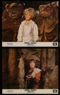 7s062 CARAVAN OF COURAGE 8 8x10 mini LCs '84 An Ewok Adventure, Star Wars, great images!