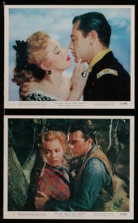 7s024 ESCAPE FROM FORT BRAVO 11 color 8x10 stills '53 cowboy William Holden, Eleanor Parker!