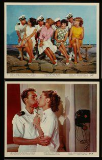 7s013 FOLLOW THE BOYS 12 color 8x10 stills '63 Connie Francis sings & the whole Navy fleet swings!