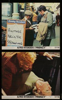 7s075 FRENZY 8 8x10 mini LCs '72 Alfred Hitchcock, Jon Finch, Alec McCowen, Barry Foster!