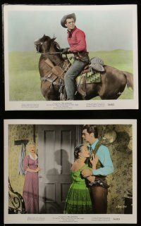 7s048 RED SUNDOWN 10 color 8x10 stills '56 images of Rory Calhoun, Martha Hyer & Dean Jagger!