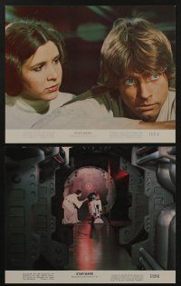 7s001 STAR WARS 8 8x10 mini LCs '77 Harrison Ford, Carrie Fisher & Chewbacca in trash masher!