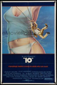 7t013 '10' 1sh '79 Blake Edwards, artwork of Dudley Moore & sexy Bo Derek!