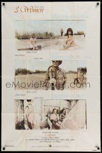 7t030 3 WOMEN 1sh '77 directed by Robert Altman, Shelley Duvall, Sissy Spacek, Janice Rule