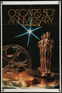 7t008 50TH ANNUAL ACADEMY AWARDS 1sh '78 ABC, great image of Oscar statue by Jim Britt