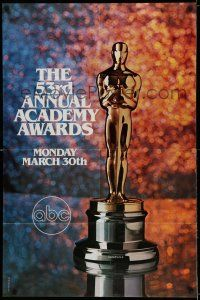 7t010 53RD ANNUAL ACADEMY AWARDS 1sh '81 cool image of Oscar statue and sparkling background!