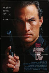 7t042 ABOVE THE LAW 1sh '88 best image of tough guy Steven Seagal!