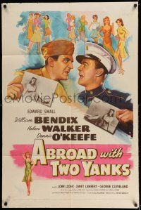 7t043 ABROAD WITH 2 YANKS 1sh '44 Marines William Bendix & Dennis O'Keefe lust after Helen Walker!