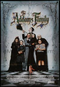 7t049 ADDAMS FAMILY int'l 1sh '91 Raul Julia, Christina Ricci, Christopher Lloyd, Huston!