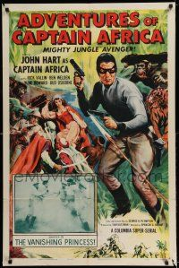 7t051 ADVENTURES OF CAPTAIN AFRICA chapter 10 1sh '55 serial, John Hart is the mighty jungle avenger