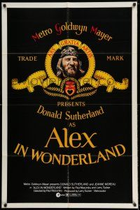 7t063 ALEX IN WONDERLAND 1sh '71 wild image of Donald Sutherland, Jeanne Moreau!