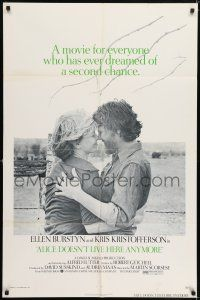 7t064 ALICE DOESN'T LIVE HERE ANYMORE 1sh '75 Martin Scorsese, Ellen Burstyn, Kris Kristofferson!