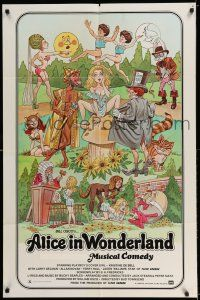7t065 ALICE IN WONDERLAND 1sh '76 x-rated, sexy Playboy cover girl Kristine De Bell!