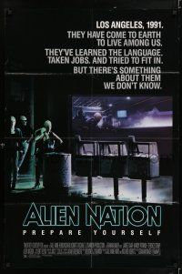 7t066 ALIEN NATION 1sh '88 they've come to Earth to live among us, they learned our language!