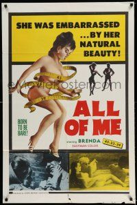 7t068 ALL OF ME 1sh '63 Brenda Denaut, Alice Denham, she was embarrassed by her beauty!