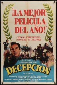 7t071 ALL THE KING'S MEN Spanish/U.S. export 1sh '50 Broderick Crawford as Louisiana Governor Long!