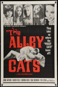 7t074 ALLEY CATS 1sh '68 Anne Arthur, Radley Metzger directed sex & violence!