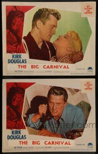 7w960 ACE IN THE HOLE 2 LCs '51 Billy Wilder classic, Kirk Douglas, Jan Sterling, The Big Carnival