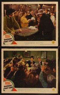 7w963 BARBARY COAST GENT 2 LCs '44 Wallace Beery gambling at roulette & taking town's fortune!