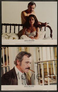 7w031 ALEX & THE GYPSY 8 color 11x14 stills '76 images of Jack Lemmon & sexy Genevieve Bujold!