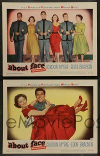 7w018 ABOUT FACE 8 LCs '52 military cadets Gordon MacRae & Eddie Bracken, director Roy Del Ruth!