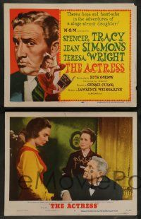 7w021 ACTRESS 8 LCs '53 Spencer Tracy, Jean Simmons, Teresa Wright, Anthony Perkins!