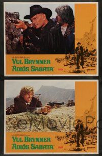 7w023 ADIOS SABATA 8 LCs '71 Yul Brynner aims to kill, and his gun does the rest, spaghetti western