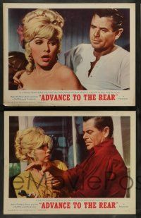7w024 ADVANCE TO THE REAR 8 LCs '64 images of Glenn Ford, sexy Stella Stevens, Melvyn Douglas!