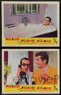 7w026 AFTER THE FOX 8 LCs '66 De Sica's Caccia alla Volpe, Peter Sellers, Victor Mature!