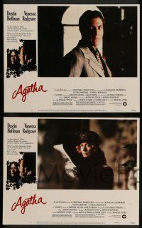 7w828 AGATHA 6 LCs '79 images of Dustin Hoffman & Vanessa Redgrave as Christie!