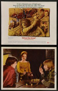 7w033 ALFRED THE GREAT 8 LCs '69 David Hemmings, Michael York, Prunella Ransome, Clive Donner