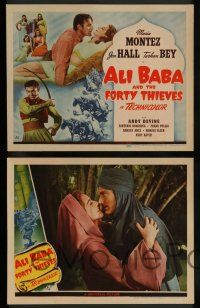 7w034 ALI BABA & THE FORTY THIEVES 8 LCs '43 Maria Montez, Jon Hall & Turhan Bey!