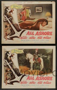 7w035 ALL ASHORE 8 LCs '52 Mickey Rooney, Peggy Ryan, Navy musical, fun galore!