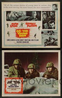 7w037 ALL THE YOUNG MEN 8 LCs '60 Alan Ladd & Sidney Poitier deal with race relations in Korean War