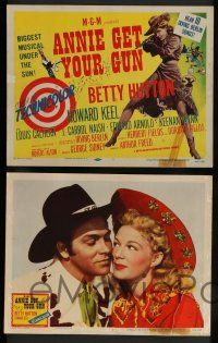 7w044 ANNIE GET YOUR GUN 8 LCs R56 Betty Hutton as the greatest sharpshooter, Howard Keel!