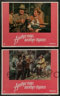 7w045 ANOTHER MAN ANOTHER CHANCE 8 LCs '77 director Claude Lelouch, James Caan, Genevieve Bujold!