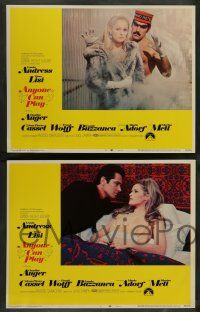 7w046 ANYONE CAN PLAY 8 LCs '68 sexy Claudine Auger, Ursula Andress, Virna Lisi, Marisa Mell!
