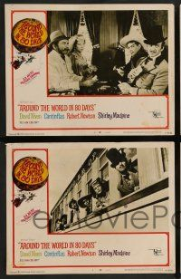 7w053 AROUND THE WORLD IN 80 DAYS 8 LCs R68 David Niven, Shirley MacLaine, Cantinflas, all-stars!