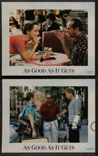 7w054 AS GOOD AS IT GETS 8 LCs '97 images of Jack Nicholson as Melvin, Helen Hunt, Greg Kinnear!